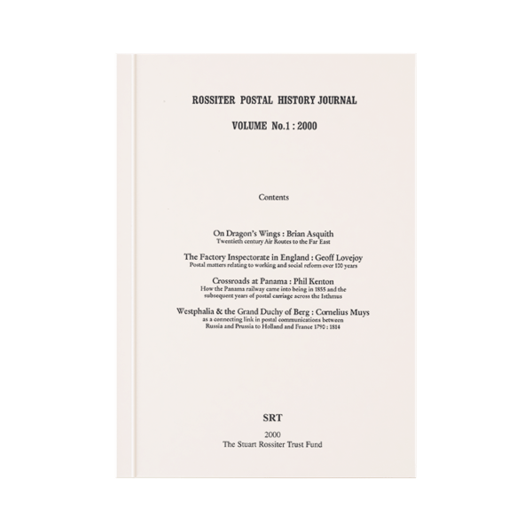 Rossiter Postal History Journal Volume 1