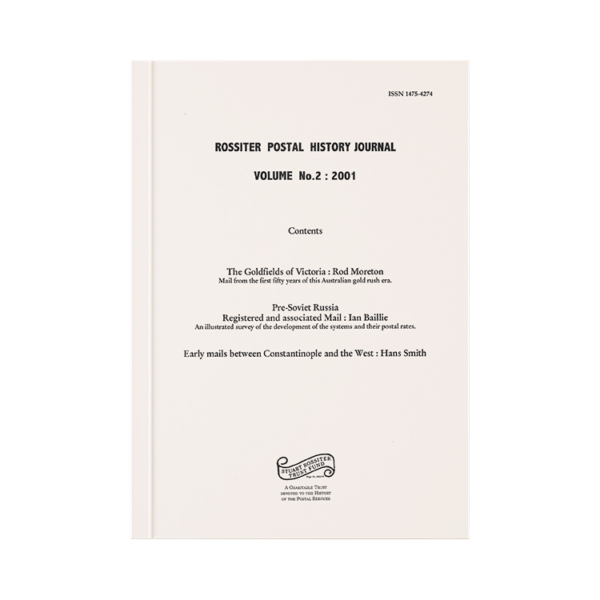 Rossiter Postal History Journal Volume 2