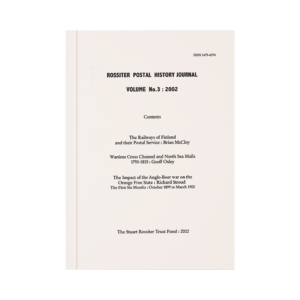 Rossiter Postal History Journal Volume 3