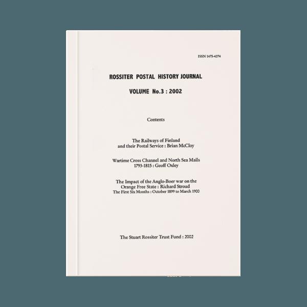 Rossiter Postal History Journal Volume 3