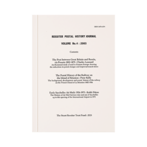 Rossiter Postal History Journal Volume 4