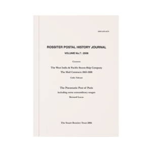 Rossiter Postal History Journal Volume 7
