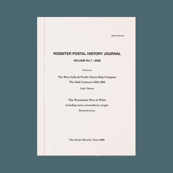 Rossiter Postal History Journal Volume 7