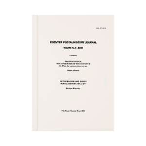 Rossiter Postal History Journal - Volume 8